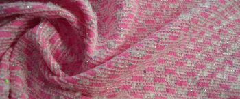 Synthetik - pink mit Pailletten
