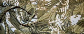 Synthetik - oliv und weiß