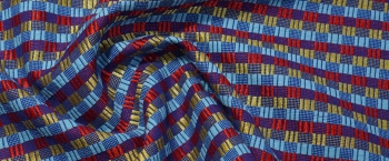 Kostümqualität - blau mit rot/gold
