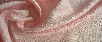Seidenmischung-Jacquard - rosé