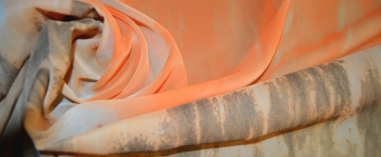 Chiffon - orange-grau