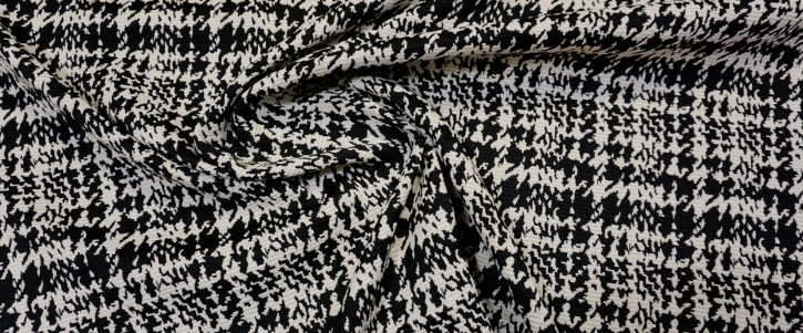 Baumwollmix - schwarz/weiß