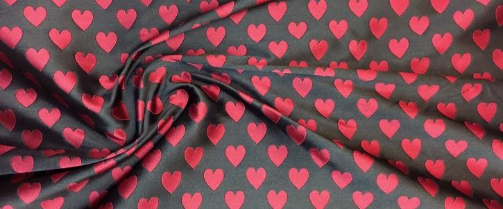 Jacquard - rote Herzen