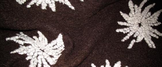 Schurwollmischung - grau/braun