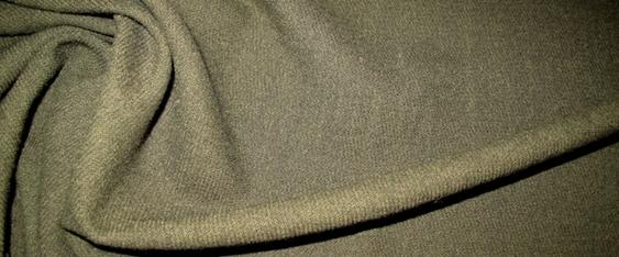 Schurwollmischung - olivgrün