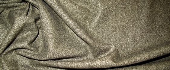 Schurwollmischung mit Seide -Tweed