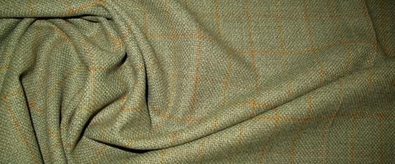 Coupon Schurwolle - graugrün