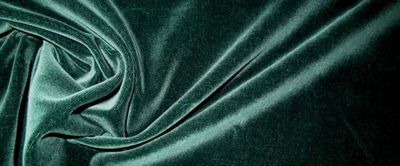 Baumwollsamt - tannengrün