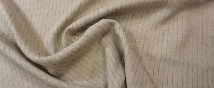 Leinen - Nadelstreifen auf grau