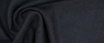 Kostümleinen - Fischgrät, schwarz