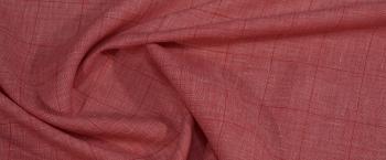 Leinen - rosa mit weiß