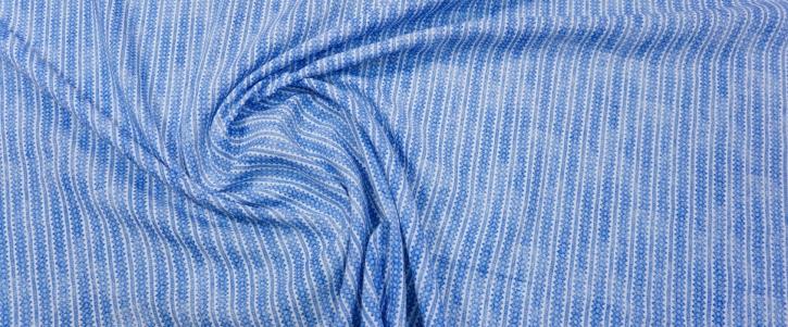Leinen - blau auf weiß