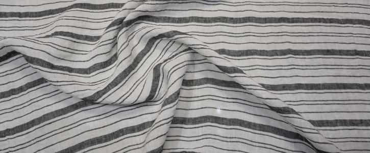 Leinen - schwarz/weiß gestreift