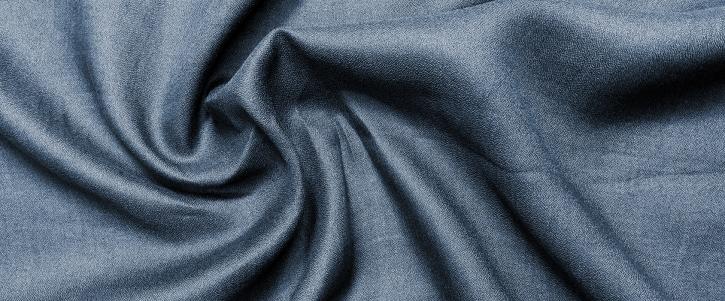 Leinencrepe - dunkelblau