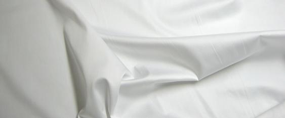 Baumwollmischung in Stretchqualität - weiß