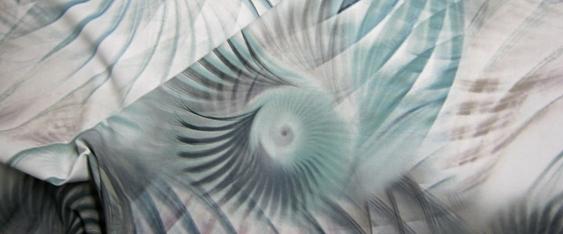 Baumwolle mit Spiralprint