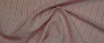 Leinenmischung - rosa gestreift