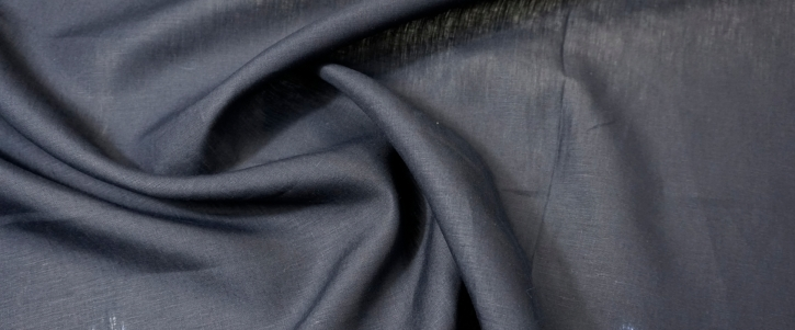 Leinenmix - schwarzblau