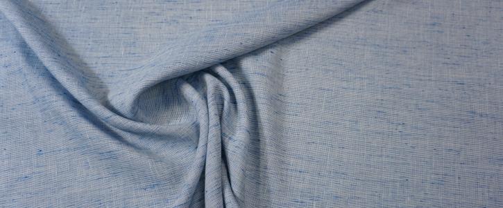 Leinenmix - blau/weiß