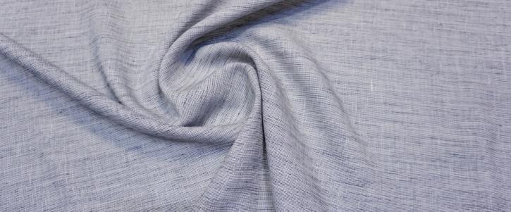 Leinen mit Viskose - weiß/blau