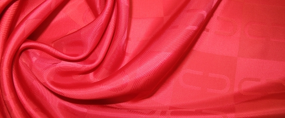 Viskose-Acetatmischung, rot