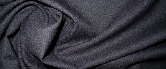 Coupon Schurwolle - nachtblau