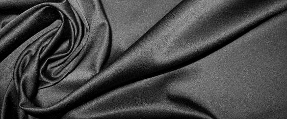 Baumwollsatin - schwarz