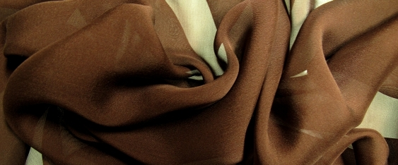 Chiffon - kakaofarben