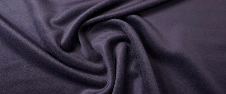Schurwolle mit kurzem Flor - tintenblau