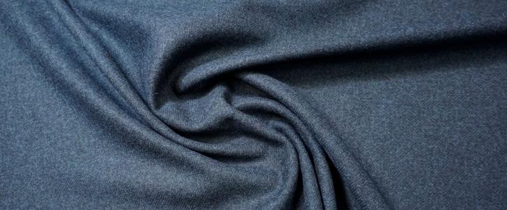 Schurwoll-Tweed - dunkelblau meliert