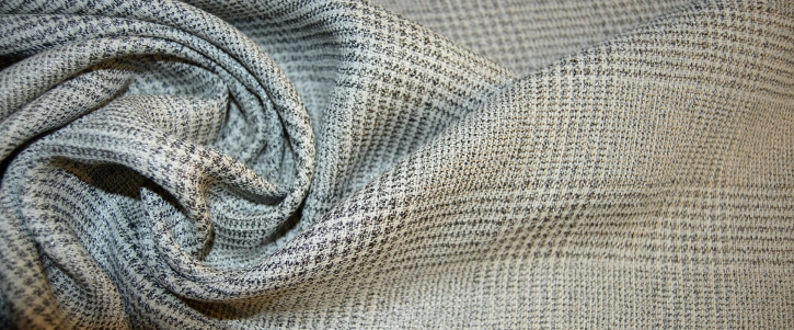Coupon Schurwolle - grau und weiß