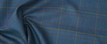 Glencheck in Blautönen