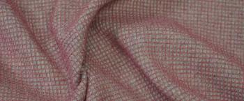 Wabenpique - grau/rosa