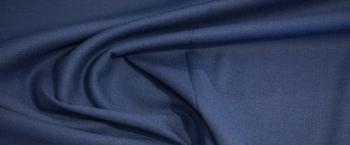 elastische Schurwolle - mittelblau
