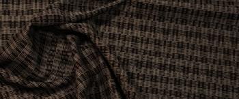 Schurwoll-Jacquard - schwarz und grau