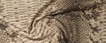 Schurwolle - Schlangendruck