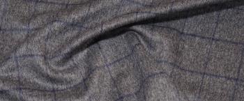 Schurwolle - grau mit Karo