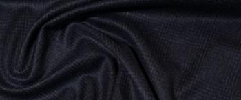 Schurwolle - dunkelblau mit Glencheck