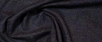Rest Harris Tweed - nachtblau mit bunten Fäden