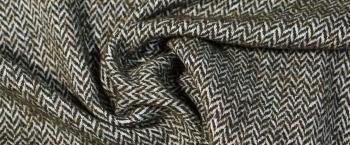 Givenchy - Fischgrät in dunkelgrün/weiß