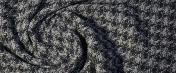 Schurwolle - anthrazit/grau