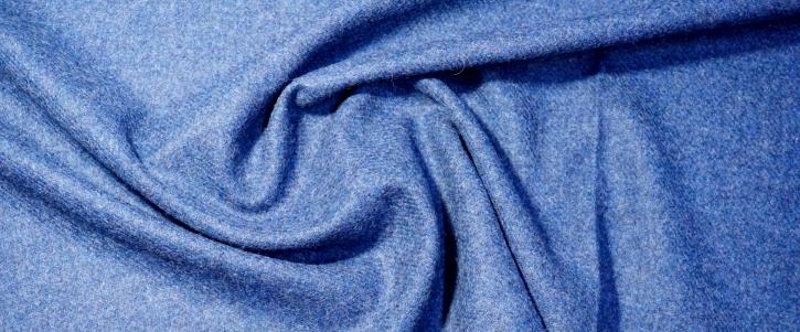 Schurwolle - hellblau meliert