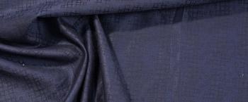 Schurwolljacquard - schwarzblau