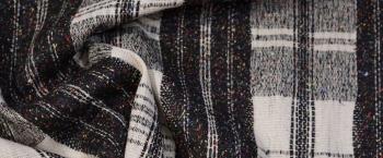 Schurwolle - schwarz/weiß
