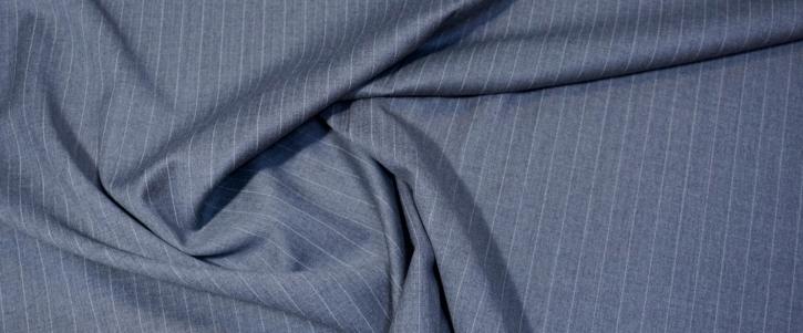 Lordtex - weiße Nadelstreifen auf grau