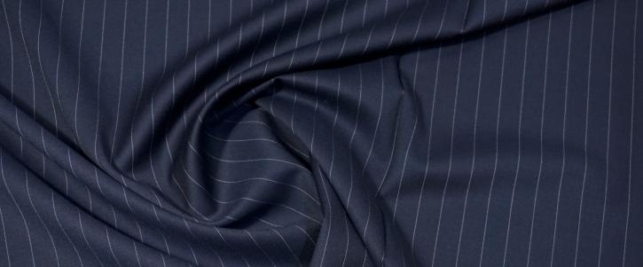 Lordtex - weiße Nadelstreifen auf nachtblau
