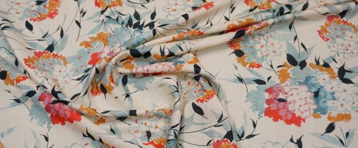 leichte Schurwolle - Blumen
