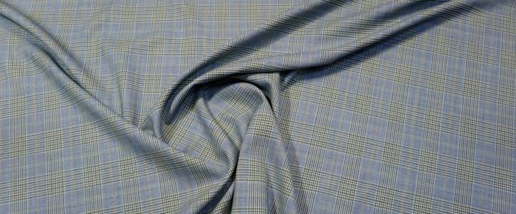 Schurwolle - blauer Glencheck