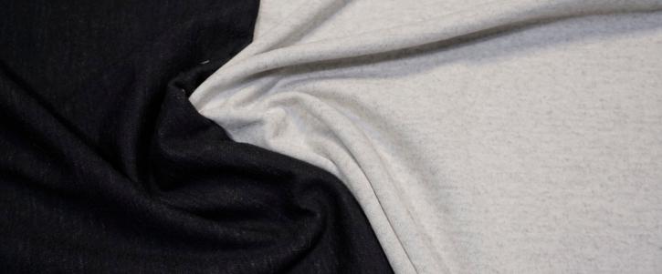 Rest, Doppelseitiger Strick - schwarz/weiß