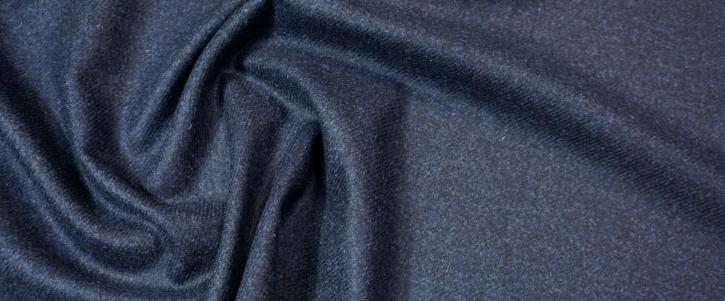 Schurwolle - schwarz/blau